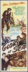 "Movie Posters:Adventure, Glory at Sea (Souvaine Selective, 1953). Insert (14"" X 36"").Adventure.. ..."