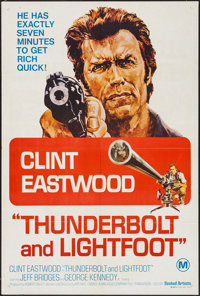 "Thunderbolt and Lightfoot (United Artists, 1974). Australian One Sheet (27"" X 39.75""). Crime"