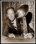 Football Collectibles:Photos, Pete Rozelle Signed Original Type 1 Photograph - Definitive Image of NFL Commissioner!...