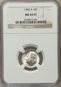 Roosevelt Dimes, 1952-S 10C MS65 Full Torch NGC. NGC Census: (11/164). PCGS Population (33/178). Mintage: 44,419,500. Numismedia Wsl. Price ...