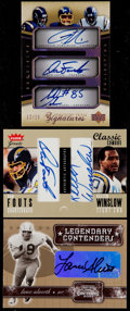 Football Cards:Lots, 2001-2005 Football San Diego Chargers Signed Card Trio (3)....