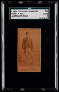 Non-Sport Cards:Singles (Pre-1950), Rare C. 1890 N174 Old Judge (Australian) J. H. Hill, Trainer,Glenelg SGC 30 Good 2. ...