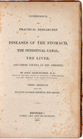 Books:Medicine, Joh Abercrombie. Pathological and Practical Researches on Diseases of the Stomach, the Intestinal Canal, the Liver, and ...