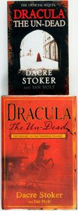 Books:Horror & Supernatural, Dacre Stoker & Ian Holt. Pair of SIGNED Editions of Draculathe Un-Dead. Various publishers and dates.... (Total: 2 Items)