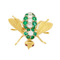 Estate Jewelry:Brooches - Pins, Diamond, Emerald, Ruby, Gold Brooch, Rosenthal. ...