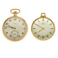 Timepieces:Pocket (post 1900), Aureole & Agassiz 14k Gold 12 Size Pocket Watches. ... (Total:2 Items)