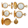 Timepieces:Pocket (post 1900), Lot of Lady's Watches, Two In 14k Gold. ... (Total: 6 Items)