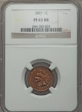 Proof Indian Cents: , 1887 1C PR65 Red and Brown NGC. NGC Census: (49/17). PCGS Population (56/10). Mintage: 2,960. Numismedia Wsl. Price for pro...