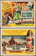 "Movie Posters:Adventure, The Desert Hawk & Other Lot (Universal International, 1950).Half Sheets (2) (22"" X 28""). Adventure.. ... (Total: 2 Items)"