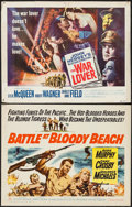 """Movie Posters:War, The War Lover & Other Lot (Columbia, 1962). Half Sheets (2)(22"""" X 28""""). War.. ... (Total: 2 Items)"""