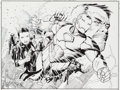 Original Comic Art:Splash Pages, Jim Cheung and John Dell New Avengers #25 Cover Original Art(Marvel, 2006)....