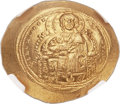 Ancients:Byzantine, Ancients: Constantine IX (1042-1055). AV histamenon nomisma (30mm,4.45 gm, 6h)....