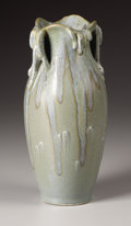 Ceramics & Porcelain, Continental:Modern  (1900 1949)  , A French Art Pottery Vase. Denbac Pottery, Vierzon, France. Circa 1930. Glazed earthenware. Marks: Denbac, 133 . 10.5 inch...