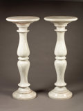 Marble, A Pair of White Baluster Shaped Marble Pedestals. Italian.Circa Late 19th-early 20th Century. Marble. 38-1/2 inches hig...(Total: 2 Items)