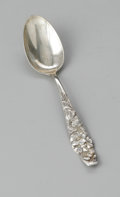 Other:American, A SILVER TEASPOON. George W. Shiebler & Co., New York, NY,c.1889. The sterling silver teaspoon, maker's hallmark to rever...