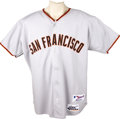 Baseball Collectibles:Uniforms, 2001 Barry Bonds Career Home Run #506 Game Worn Jersey. The controversial slugger was chasing the first of his two Home Run...