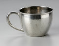 Other:American, A SILVER DRINKING CUP. Maker unknown. The sterling cup withhammered finish, applied handle, hallmark to the underside,...