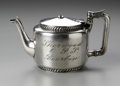 Other:American, AN AMERICAN SILVER TEA POT. The Meriden Britannia Company, Meriden,Connecticut. The silver plate tea pot with hinged lid ...