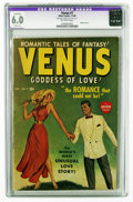 "Golden Age (1938-1955):Romance, Venus #7 (Atlas, 1949) CGC Apparent FN 6.0 Off-white pages. Paintedcover. CGC notes, ""Restoration includes: tear seal to co..."