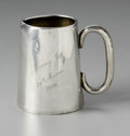 Other:American, A SILVER CUP. Maker unknown. The miniature silver cup with appliedhandle and gilt interior, monogrammed Mary Joe 26th M...