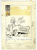 """Original Comic Art:Covers, Warren Kremer - Baby Huey #17 Cover Original Art (Harvey, 1959).Huey displays his """"get-up-and-go"""" on this fast-paced cover...."""