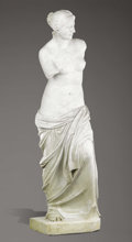 Marble, After The Aphrodite of Milos (Better known as The Venusde Milo ) Over Life Sized Carrara Marble Scul...