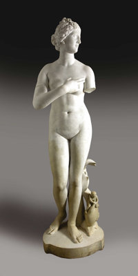 Venus de Medici, Over Life Size Carrara Marble Sculpture, after the Antique19th century Ita