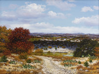 WILLIAM SLAUGHTER (1923-2003) Untitled Landscape Oil on canvas 18 x 24 inches (45.7 x 61.0 cm) Signed low