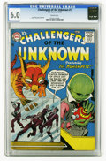 Silver Age (1956-1969):Science Fiction, Challengers of the Unknown #1 (DC, 1958) CGC FN 6.0 Cream pages.Jack Kirby story, cover, and interior art. Overstreet 2005 ...