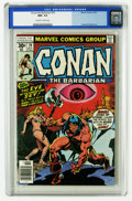 Bronze Age (1970-1979):Miscellaneous, Conan the Barbarian #79 (Marvel, 1977) CGC NM+ 9.6 Off-white towhite pages. Just one copy of this issue has received a high...