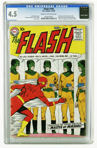 The Flash #105 (DC, 1959) CGC VG+ 4.5. Cream to off-white pages This is the first issue featuring the Silver Age Flash i...