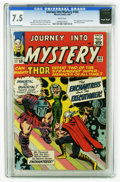 Silver Age (1956-1969):Superhero, Journey Into Mystery #103 (Marvel, 1964) CGC VF- 7.5 White pages. Thor battles the Enchantress (first appearance) and the Ex...