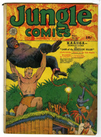 Jungle Comics #10 (Fiction House, 1940) Condition: GD+. George Tuska art. Overstreet 2005 GD 2.0 value = $77