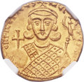 Ancients:Byzantine, Ancients: Philippicus (Bardanes) (AD 711-713). AV Solidus (19mm,4.47 gm, 6h)....