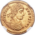 Ancients:Roman Imperial, Ancients: Constans (AD 337-350). AV solidus (21mm, 4.57 gm, 7h)....