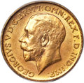 Canada, Canada: George V gold Sovereign 1913-C MS62 PCGS,...