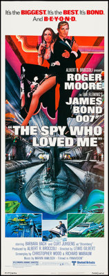 "The Spy Who Loved Me (United Artists, 1977). Insert (14"" X 36""). James Bond"