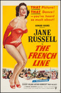 "Movie Posters:Comedy, The French Line (RKO, 1954). One Sheet (27"" X 41.25""). Comedy.. ..."