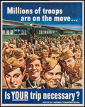 Movie Posters:War, World War II Propaganda by Montgomery Melbourne (U.S. GovernmentPrinting Office, 1943). Office of Defense Transportation Po...