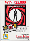 "Movie Posters:James Bond, License to Win (Kansas Lottery, 1989). Lottery Tie-in Poster (18"" X24""). James Bond.. ..."
