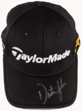 Golf Collectibles:Autographs, Dustin Johnson Signed Golf Cap....