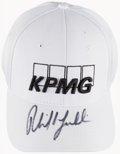 Golf Collectibles:Autographs, Phil Mickelson Signed Golf Cap....