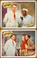 "Movie Posters:Mystery, The Trap (Monogram, 1946). Lobby Cards (2) (11"" X 14""). Mystery..... (Total: 2 Items)"
