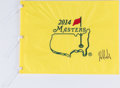 Golf Collectibles:Autographs, 2014 Bubba Watson Signed Masters Flag....