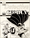 Original Comic Art:Miscellaneous, Batman Archives Volume 1 - Detective Comics #46 CoverRecreation Production Art (DC Comics, 1990)....