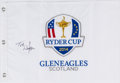 Golf Collectibles:Autographs, Tom Watson Signed Flag....