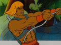 Animation Art:Production Cel, She-Ra: Princess of Power He-Man Production Cel Setup, Animation Drawing, and Production Folder Group (Filmation, 1985... (Total: 7 Items)