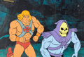 Animation Art:Production Cel, He-Man and the Masters of the Universe Skeletor ProductionCel Setup and Animation Drawing Group of 3 (Filmation, 1983...(Total: 3 Original Art)