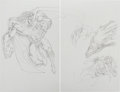 Original Comic Art:Miscellaneous, Dave Hoover - Superman/Supergirl Preliminary Original Art (c.2000s).... (Total: 2 Original Art)