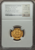 Ancients:Roman Imperial, Ancients: Marcian, Eastern Roman Emperor (AD 450-457). AV solidus(4.44 gm)....